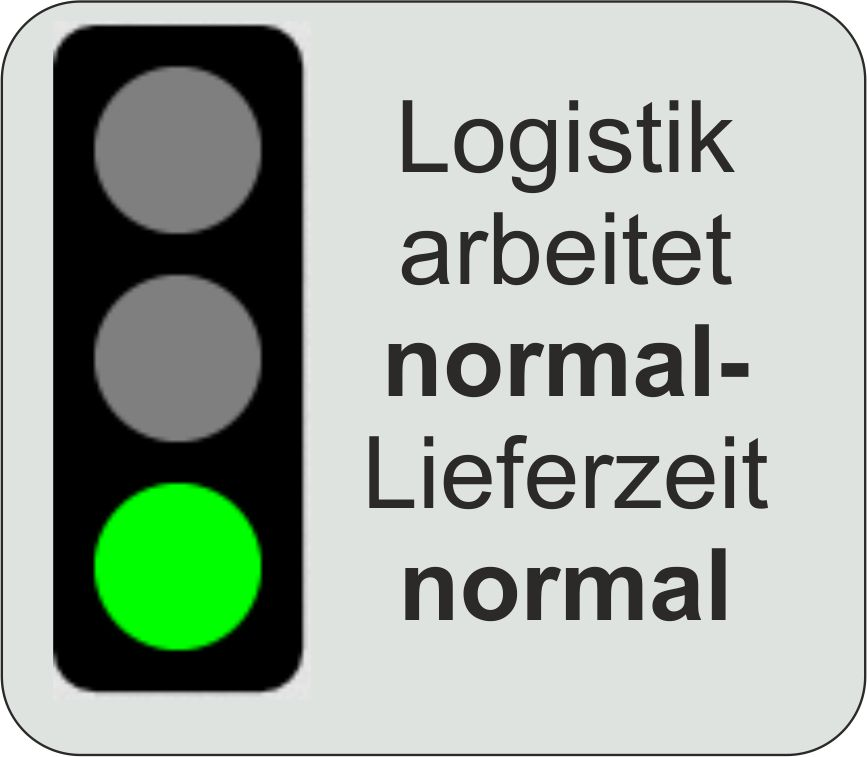 Logistik arbeitet normal